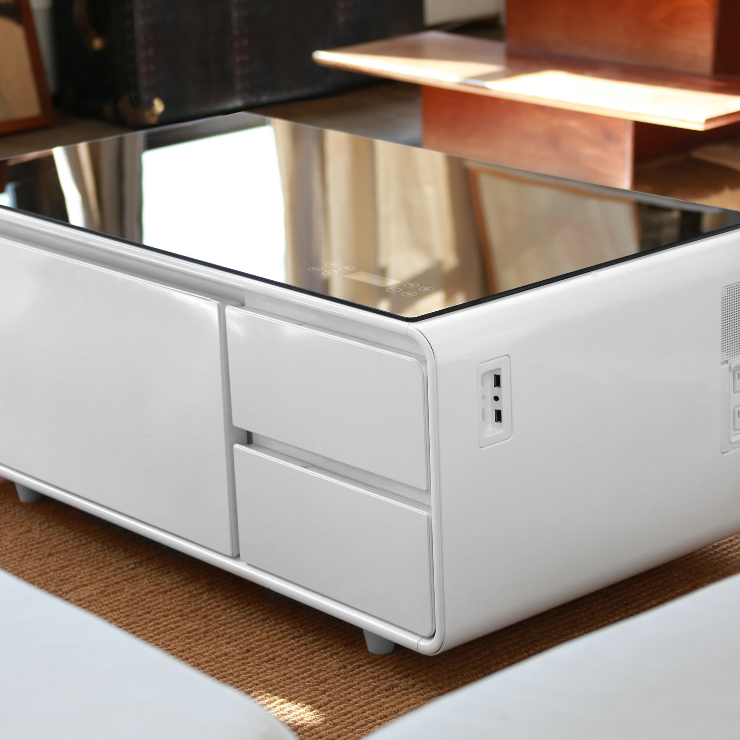 Sobro Coffee Table White Design Touch Of Modern