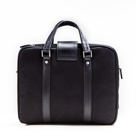 Hamptons Briefcase // Black + Black