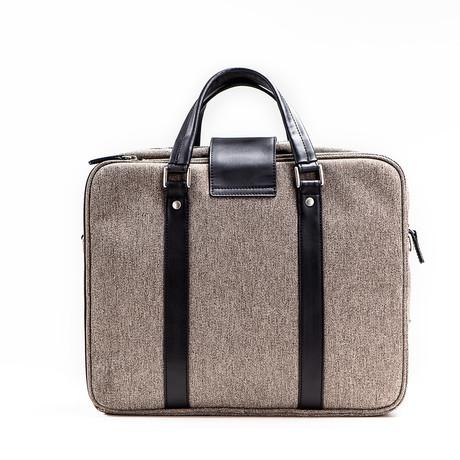 Hamptons Briefcase // Brown + Black