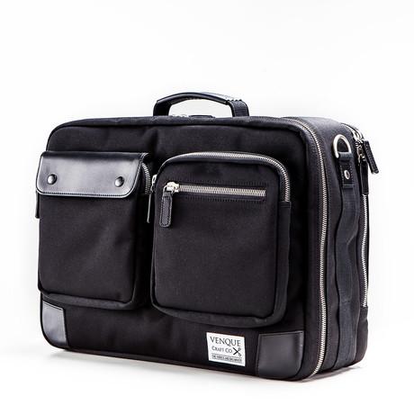 Briefpack XL // Black + Black