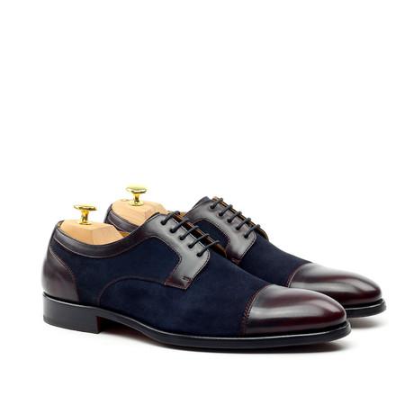 Cap-Toe Oxford // Cherry + Prussian Blue (Euro: 39)