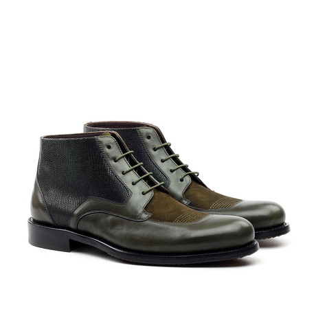 Ankle Boot // Grey + Green (Euro: 39)