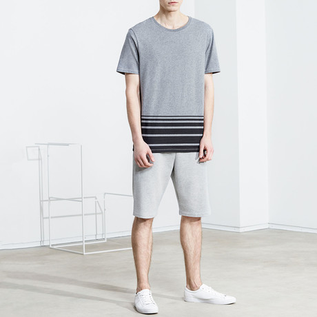 Striped Shirt // Dark Grey Melange (S)