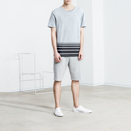 Striped Shirt // Light Grey Melange (S)