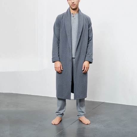 Loungewear Gown // Dark Grey Melange (S)