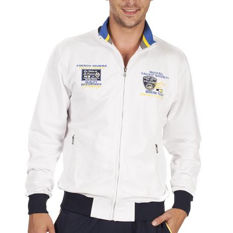 Cardito-Top Sweatsuit // White + Multi (S)