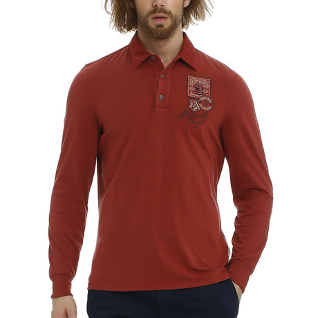 Rude Polo Sweatshirt // Rose Wood (S)