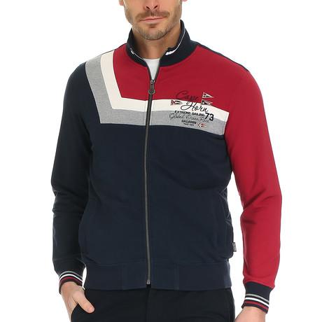 Silvano Polo Sweatshirt // Dark Navy + Multi (S)