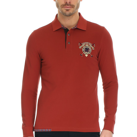 Duerer Polo Sweatshirt // Rose Wood + Multi (S)