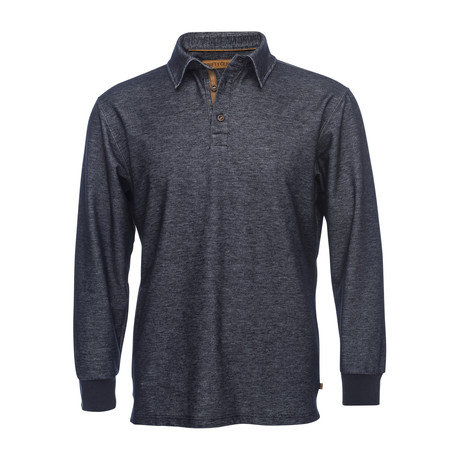 Nicholas Long-Sleeve Polo // Navy (XS)