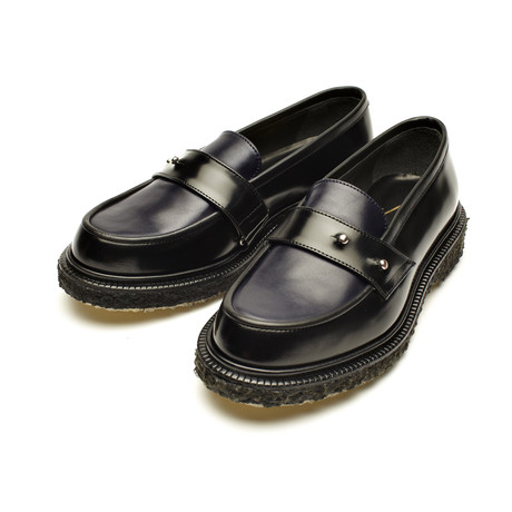 Leather Loafer // Black + Navy (Euro: 39)