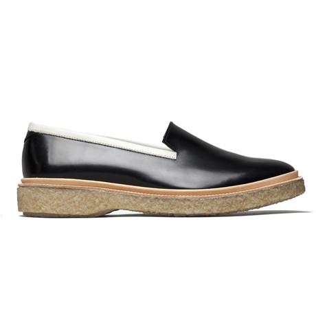 Leather Slipper // Black + White (Euro: 39)