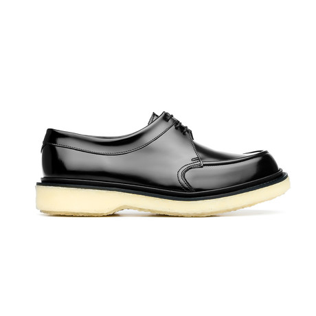 Lace-Up Leather Open Round Creepers // Black (Euro: 39)