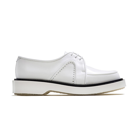 Lace-Up Round Creepers // White (Euro: 39)