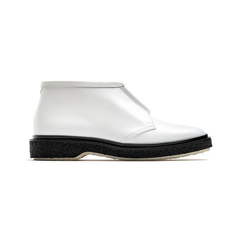 Leather Low-Zip Boots // White (Euro: 39)
