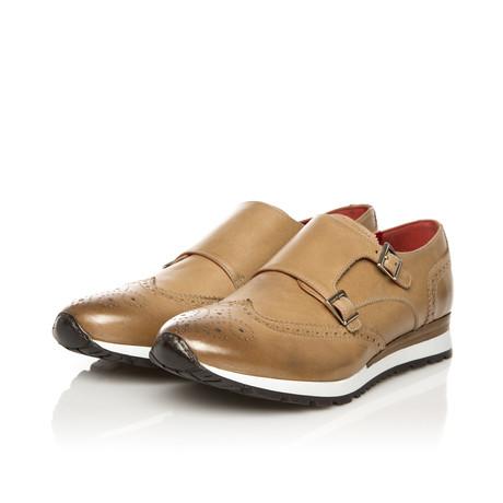 Double Monk Sneaker // Camel (Euro: 39)