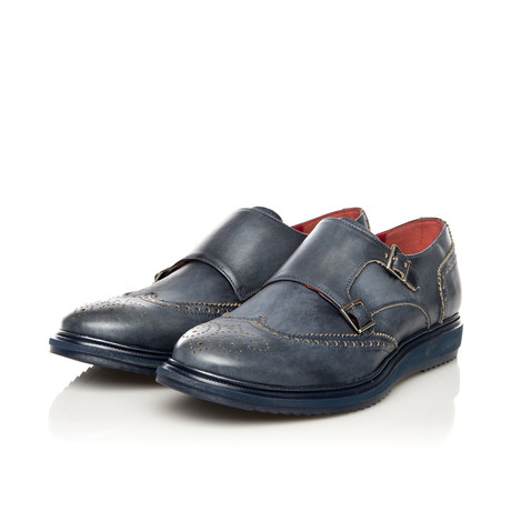 Double Monk Dress Shoe // Navy (Euro: 39)