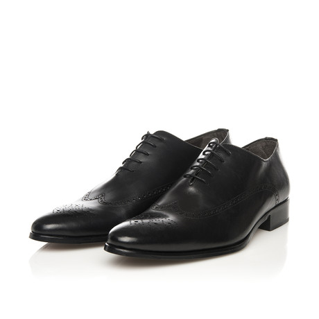 Dress Elegant Brogue Oxford // Black (Euro: 39)