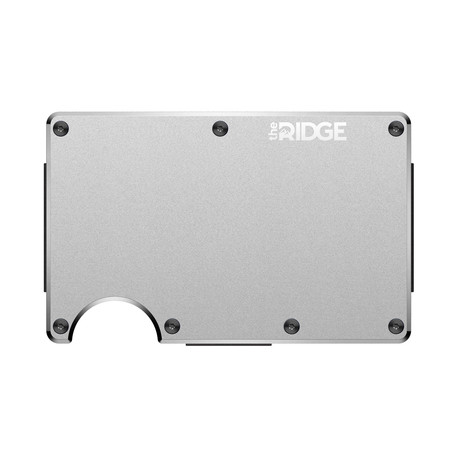 Aluminum Pocket Wallet // Silver (Cash Strap)