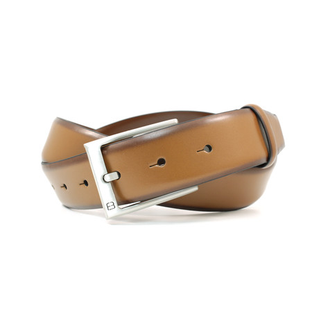 Burnished Leather FlyBelt // Brushed Nickel Buckle // Cognac