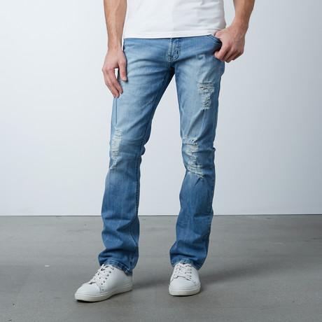 Slim Torn // Faded Medium Blue (29WX32L)