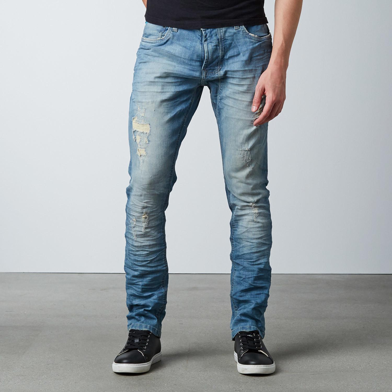 da9d3e19392 Skinny Torn    Dirty Light Blue (30WX32L) - 86A Jeans - Touch of Modern