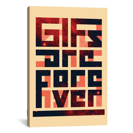 "GIFs Are Forever (26""W x 18""H x 0.75""D)"