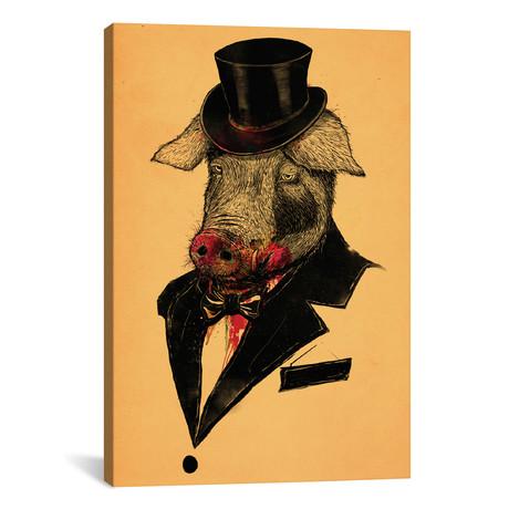"""Mr. Pig (26""""W x 18""""H x 0.75""""D)"""