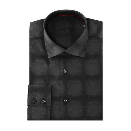 Gattuso Button-Up // Circular Design Print // Gray (XS)