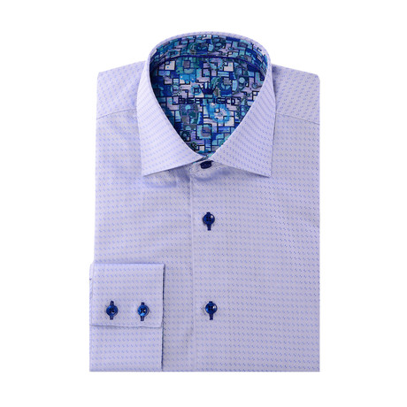 Button-Up // Small Triangle Dobby // Blue (XS)