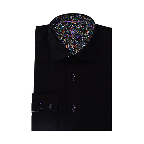 Button-Up // Floral Jacquard // Black (XS)