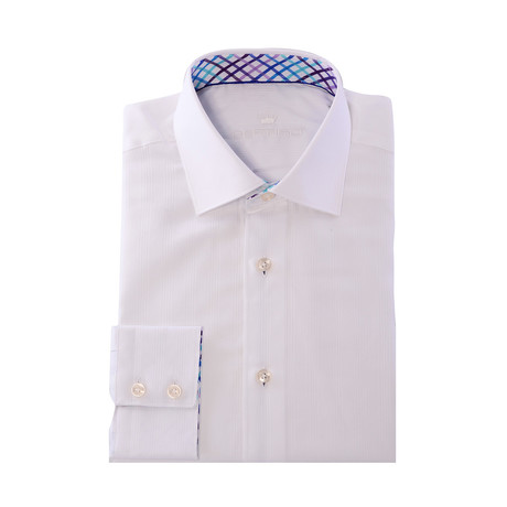 Button-Up // Stripe Jacquard // White (XS)
