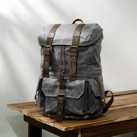 No. 772 Canvas Backpack (Black)