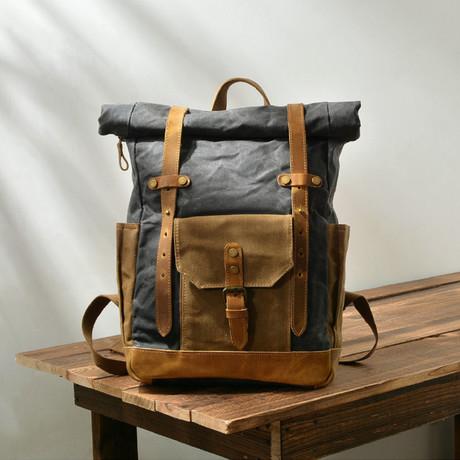 No. 773 Canvas Backpack (Dark Grey)