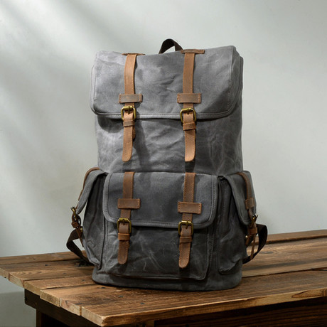 No. 774 Canvas Backpack (Coffe)