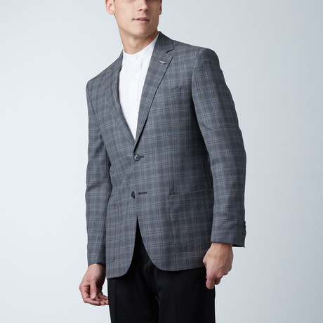 Notch Lapel PS Jacket // Gray Tartan Plaid (US: 36S)