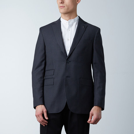 Notch Lapel PS Jacket // Charcoal + Gray Stripe (US: 36S)