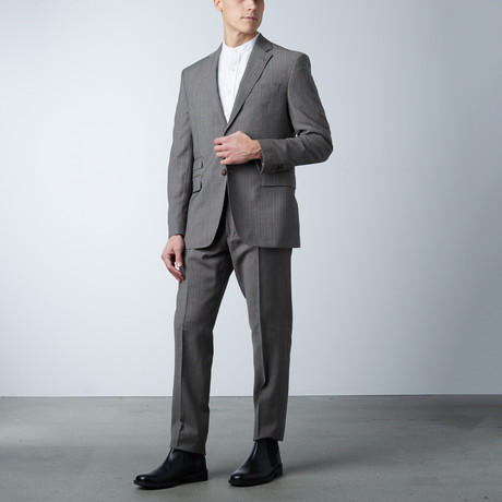 Notch Lapel PS Suit // Light Brown Stripe (US: 36S)