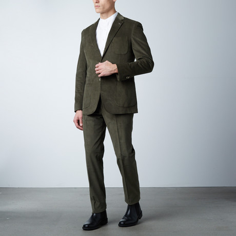 Notch Lapel Suit // Green Corduroy (US: 36S)