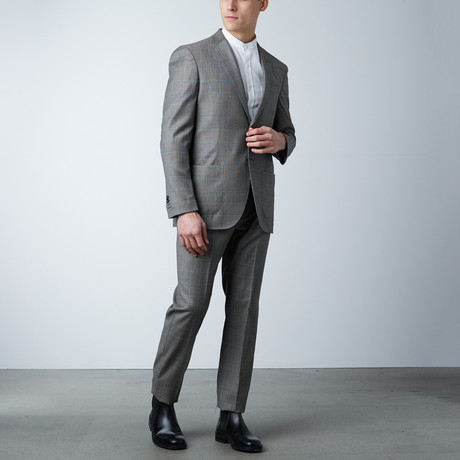 Notch Lapel Suit // Black + White Glen Check (US: 36S)