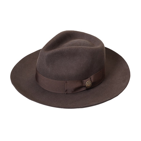 The Bookie Fedora // Brown (S)