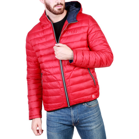 Darlington Jacket // Red + Blue (S)