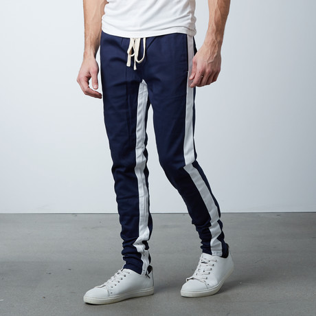 Striped Track Pant // Navy + White (S)