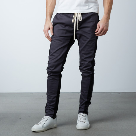 Striped Track Pant // Charcoal + Black (S)