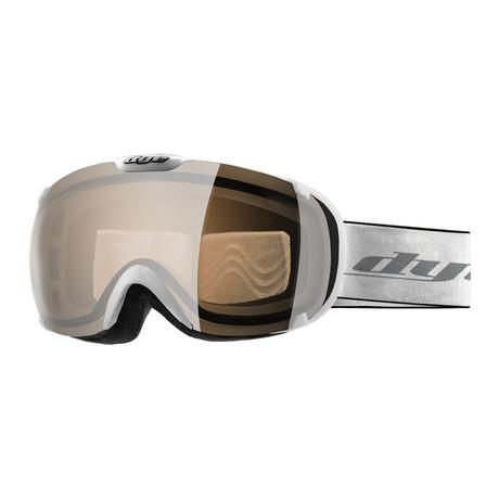 T1 Snow Goggle // Solid White // Orange Silver Lens