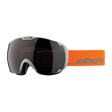 T1 Snow Goggle // Solid Gray/Orange // Jet Black Lens