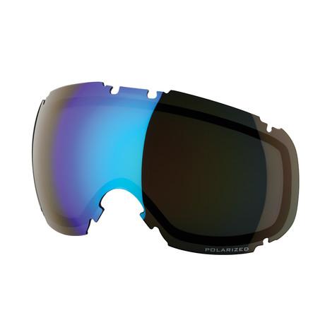 T1 Snow Goggle Lens // Smoke Blue Ice Polarized