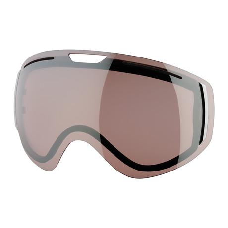 CLK Snow Goggle Lens // Rose Silver