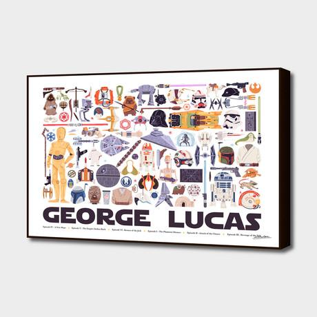 "George Lucas (20""W x 16""H x 1.5""D)"