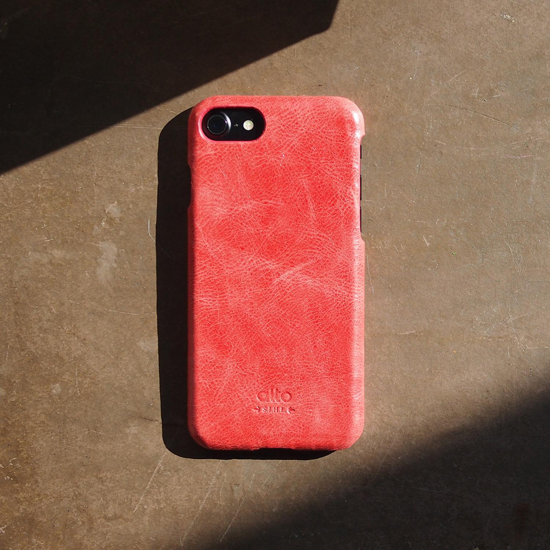 Original Leather Case // Coral (iPhone X)